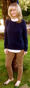 Navy Cotton Jumper Next, Hobbs Shirt & Chinos by New Look